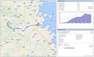 Pianificare un viaggio in bicicletta: schermata di Bikehike