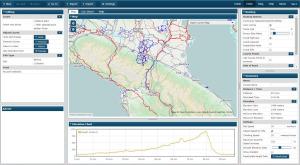Pianificare un viaggio in bicicletta: schermata di Bikeroutetoaster