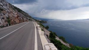 La strada costiera nei pressi di Senj